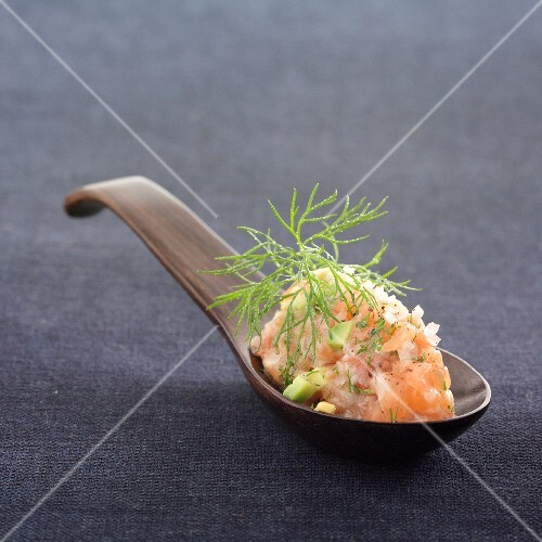 Salmon, avocado and tomato tartare
