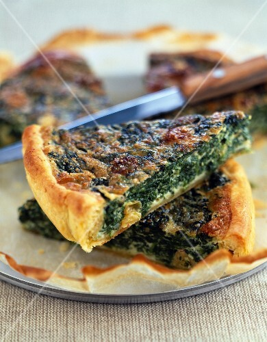 Spinach and roquefort tart