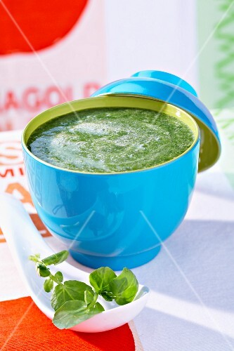 Cream of watercress soup