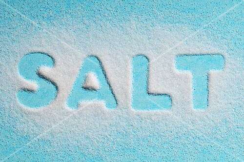 "The world ""salt"" written with salt"
