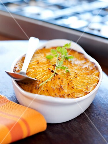 Sweet potato and carrot Parmentier