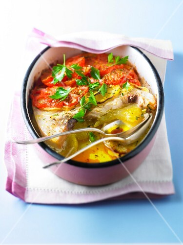 Fish and vegetable gratin