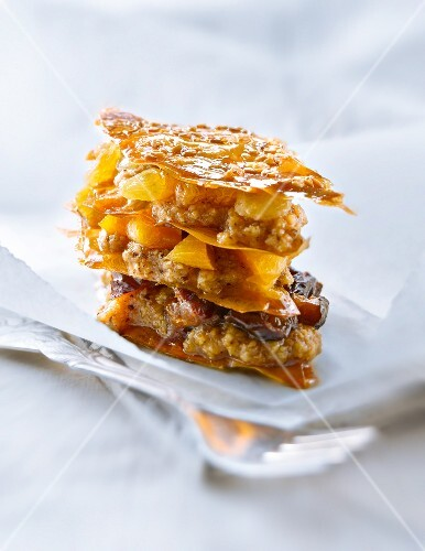 Baklava-style dried fruit Mille-feuille