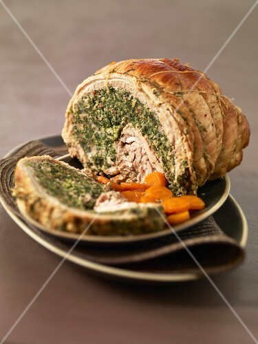 Veal's breast stuffed with swiss chard