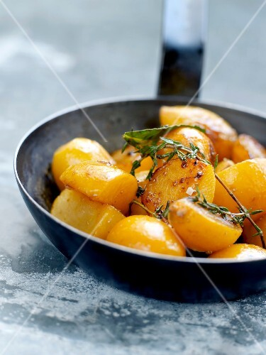 Yellow turnips glazed with honey