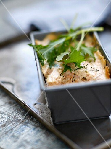 Salmon and dill terrine