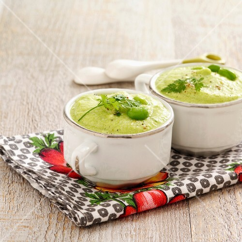 Green vegetable mousse with parmesan