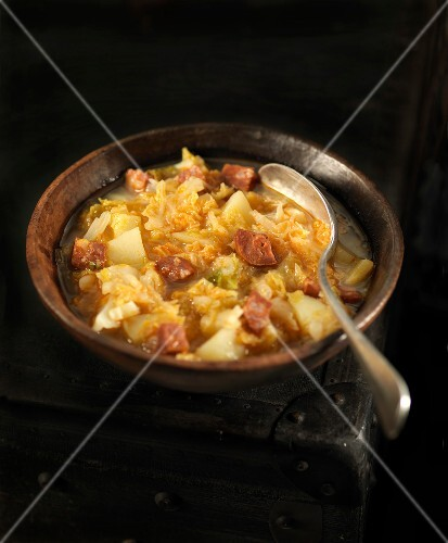 Cabbage and Chorizo soup