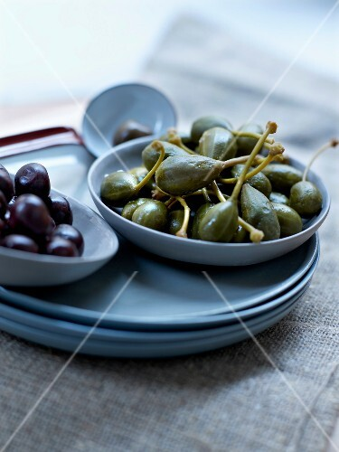 Olives and capers