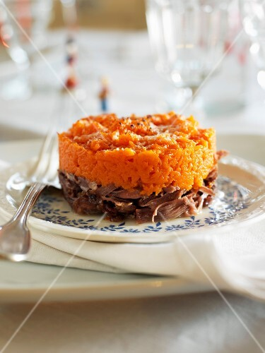Duck and carrot Parmentier