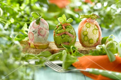 Spring vegetable Easter eggs