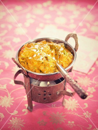 Vegetarian Korma with carrots,cauliflower,peppers and peas