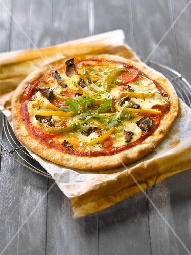 pizza vier jahreszeiten bild kaufen 60186780 stockfood. Black Bedroom Furniture Sets. Home Design Ideas