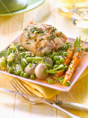 Rabbit and spring vegetable stew – buy images – StockFood