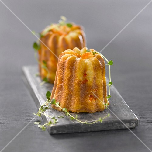 Confit carrot and orange Cannelés