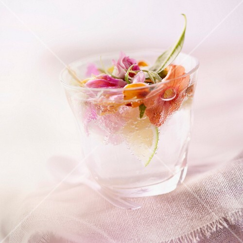 Mojito with flowers