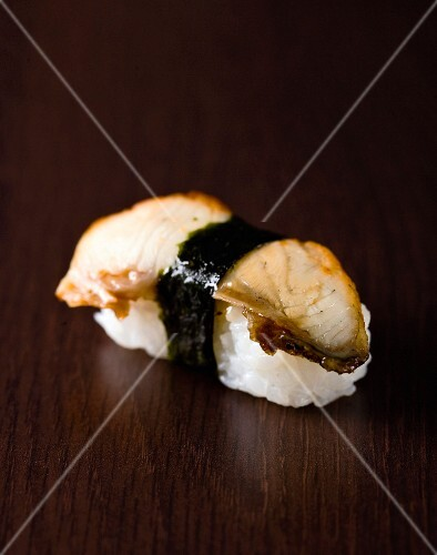 Cooked sea bream sushi