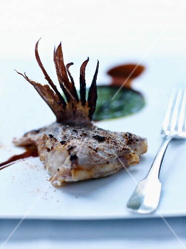 Grouper with Caribbean cabbage puree