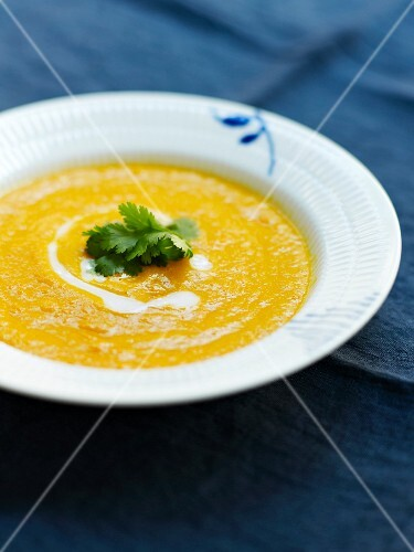 Carrot,coconut milk and ginger soup