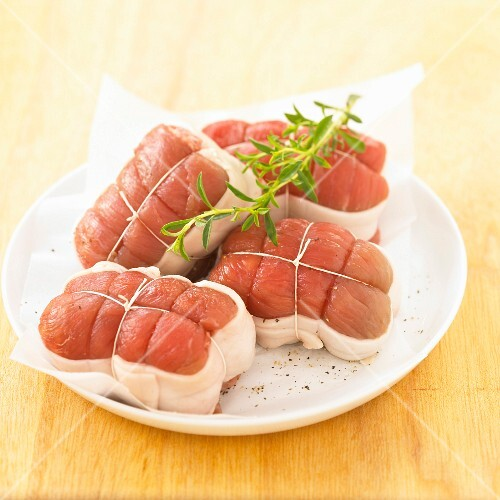 Raw veal Paupiettes