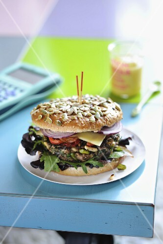 Seedy hamburger