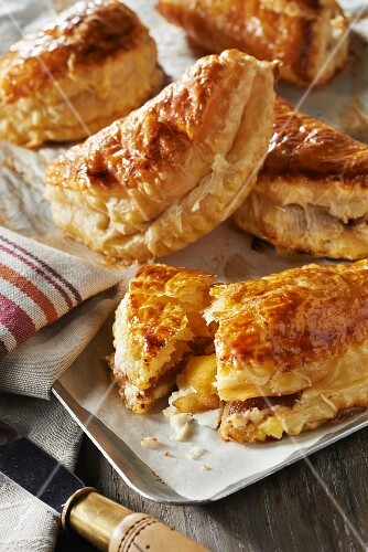 Apple, balsamic and Sheep's milk cream cheese turnovers