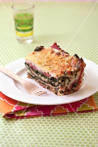 Smoked salmon and spinach lasagnes