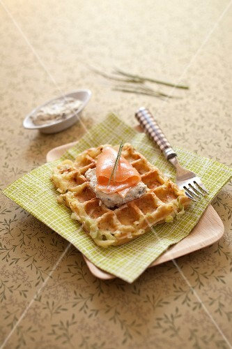 Potato and leek waffles