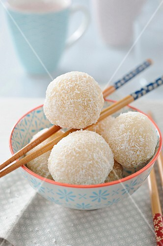 Asian coconut dumplings