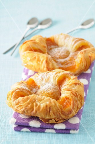 Danish pastries with apricots