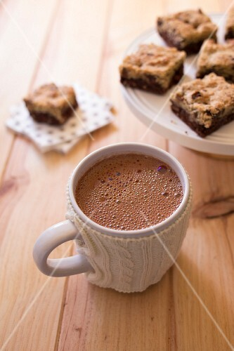 Cup of hot chocolate with Brookies