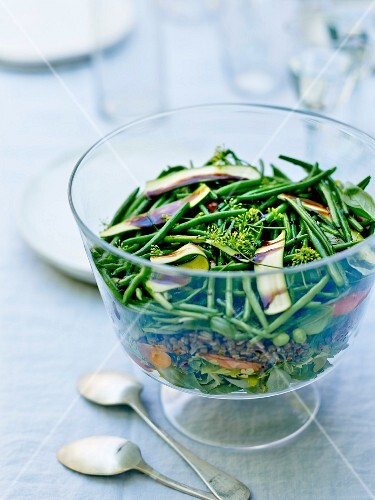 Green bean and seed salad