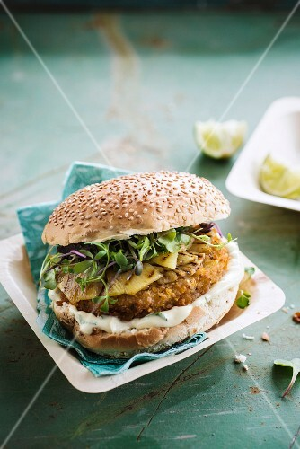 Turkey and pineapple burger