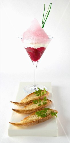 Cervelle de canut and beetroot espuma
