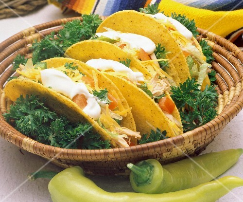 Four Tacos in a Basket