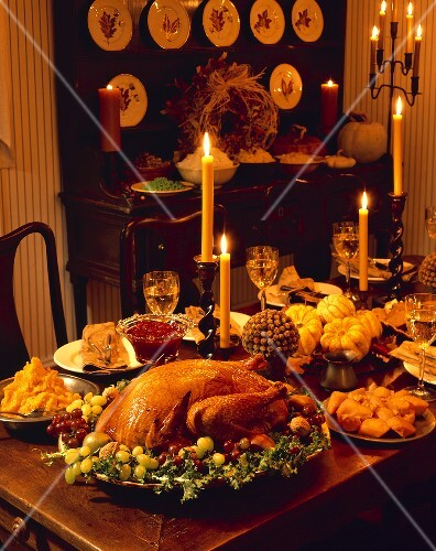 Thanksgiving Dinner by Candlelight