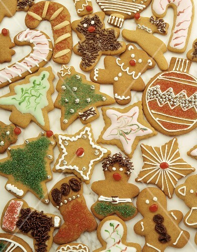 Assorted Christmas Gingerbread Cookies
