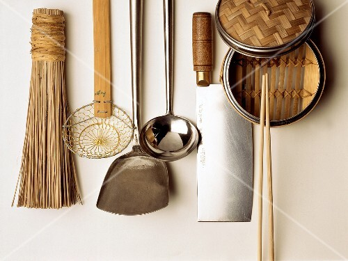 Assorted Utensils Hanging