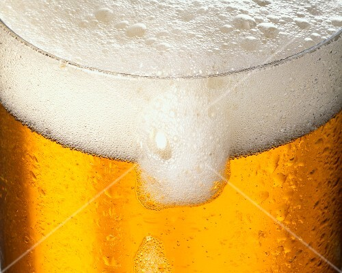 Close Up of a Frothy Glass of Beer