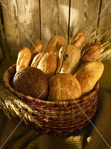 Basket of Artisan Breads