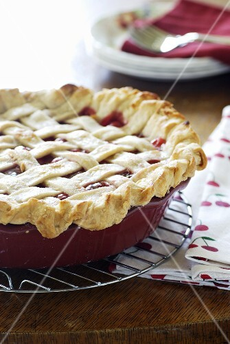 Selbstgemachte Cherry Pie