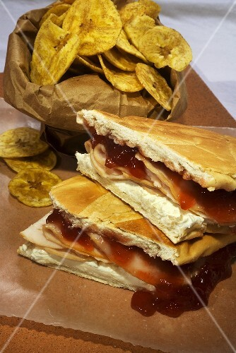 Elena Ruiz; Cuban Turkey Tea Sandwich; Turkey, Strawberry Jam and Cream Cheese