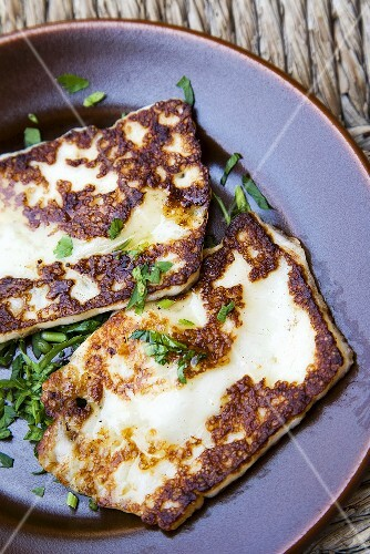 Halloumi Cheese with Parsley