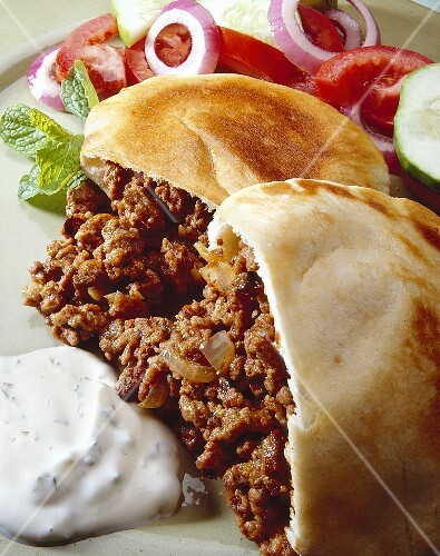 Sloppy Joes in Pita Bread; Side Salad