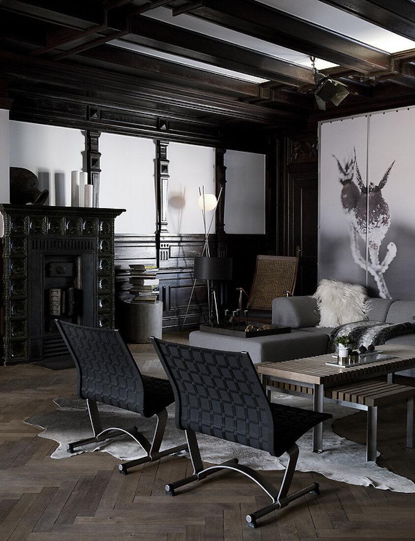 Dark wood meets great design