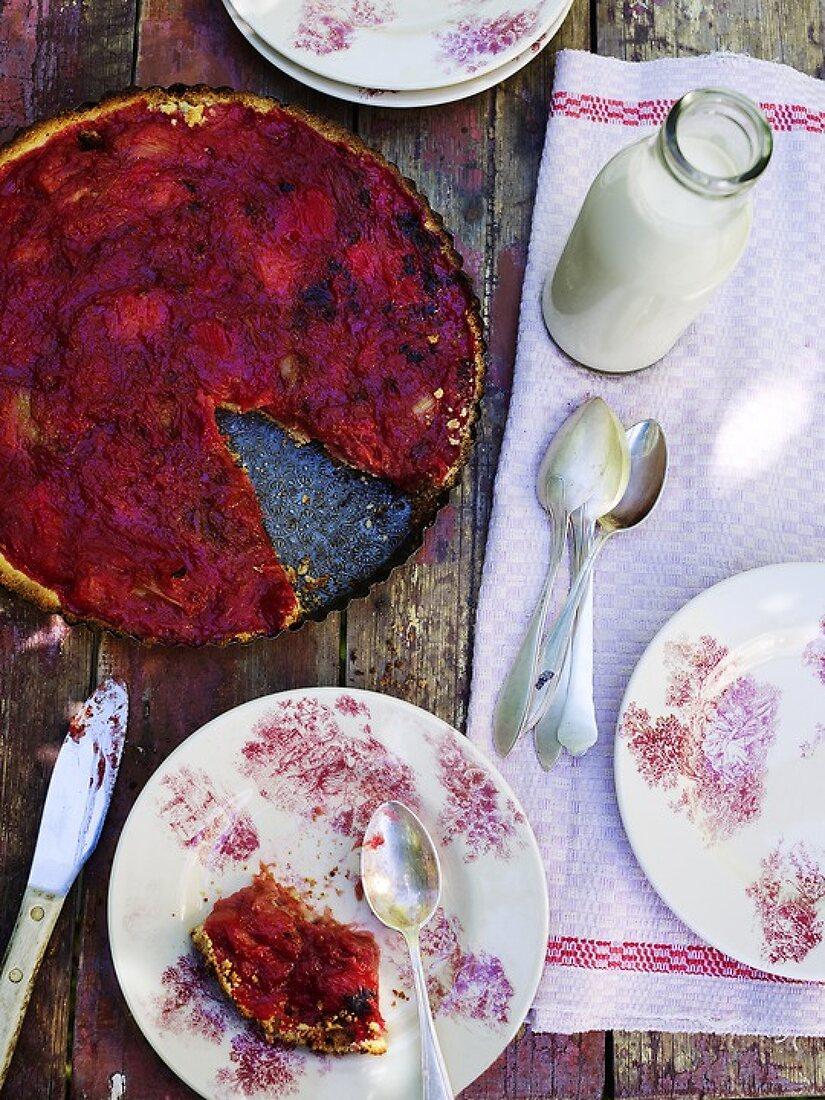 Fresh Red Rhubarb
