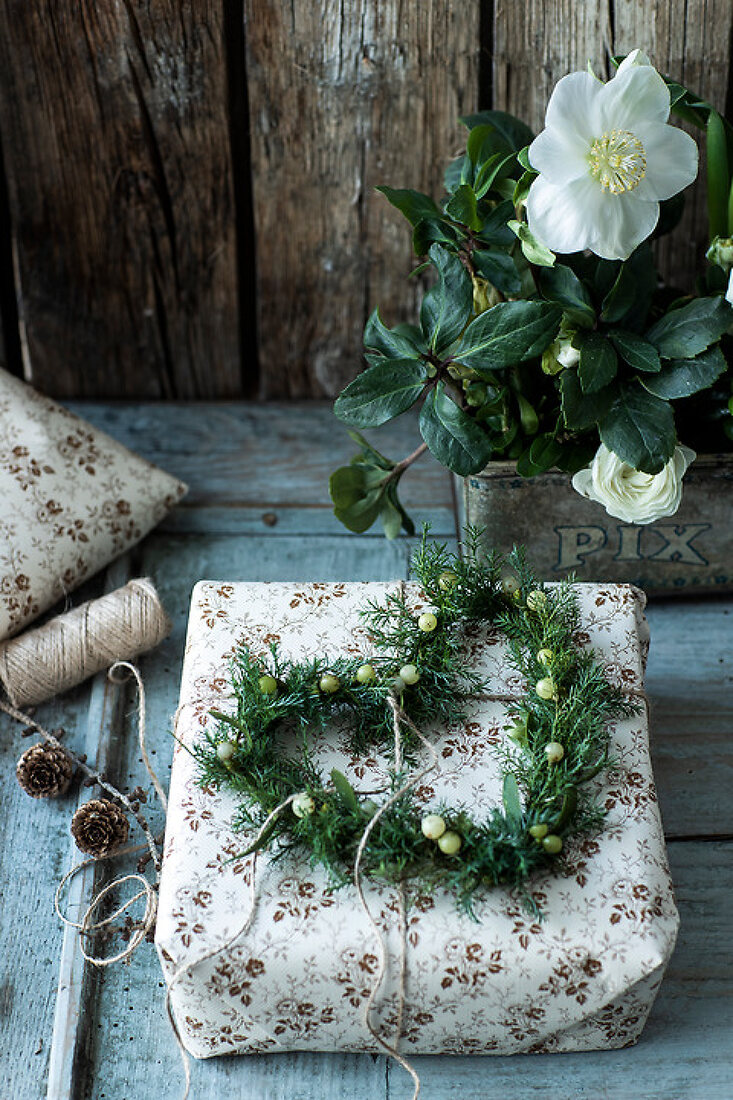 Christmas with White Flowers