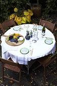 Fall Table Setting Green