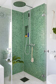 Bathroom in Green and White