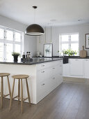 Tight Nordic Kitchen with Continental Twist